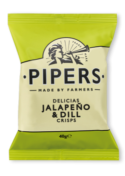 Pipers Jalapeno & Dill Crisps 150 gr