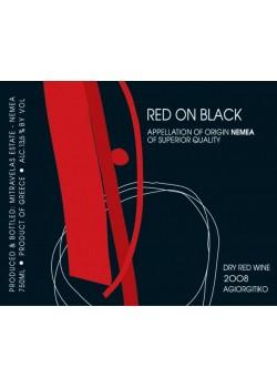 Μητραβέλα Κόκκινο σε Μαύρο 0,75 LT